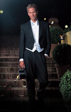 """0d5596cce8 A """"White Tie"""" viselet a lehető legelegánsabb öltözet. Uraknak frakkot,  speciális (piké) anyagú inget, mellényt és kézzel kötött csokornyakkendőt  jelent."""